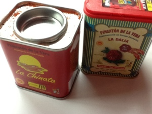 FOTO 2:  El pimentón de la Vera, en esta ocasión he utilizado dulce.