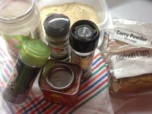 Ingredientes para el adobo.