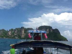 Llegando a Koh Pai (Bamboo Island)