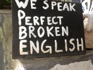 La isla cuenta con su special english.