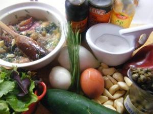 Resto de ingredientes para incorporar al bonito que ya tenemos macerado