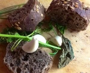 Pan de centeno para los picatostes