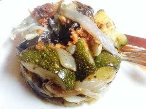 Pastel de verduras al hono