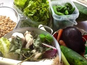 Ingredientes:  Revisamos todas las verduras que tenemos en nuestra nevera