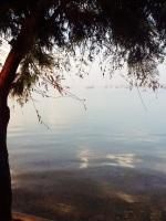 Mar Menor, al fondo el Mar Mediterráneo