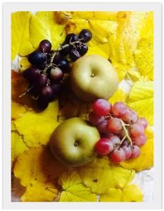 Uvas y manzanas