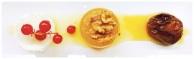 Higo en almíbar con dulce de manzana y queso fresco
