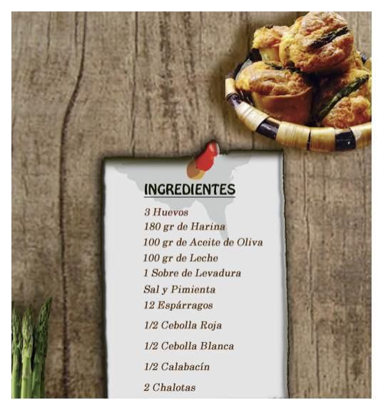Bizcochito salados de espárragos trigueros ingredientes