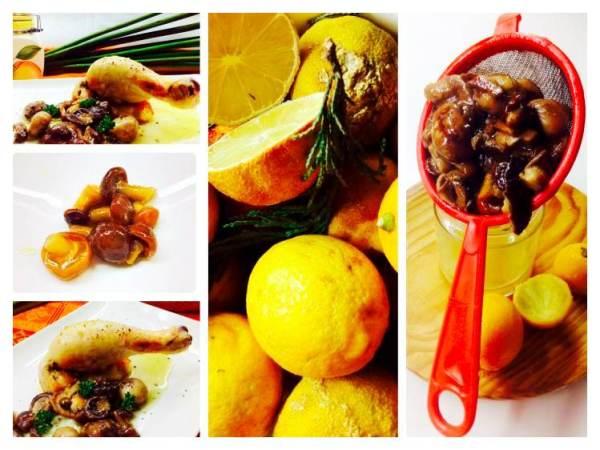 Pollo asado con setas salteadas collage_Fotor