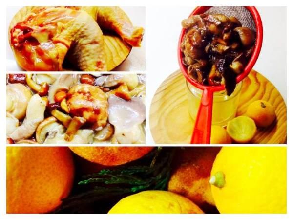 Pollo asado con setas salteadas_Fotor