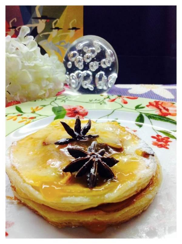 Tarta de manzana con hojaldre y anís