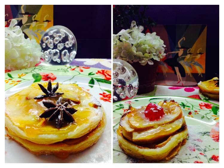 Tarta de Manzana y hojaldre _Fotor