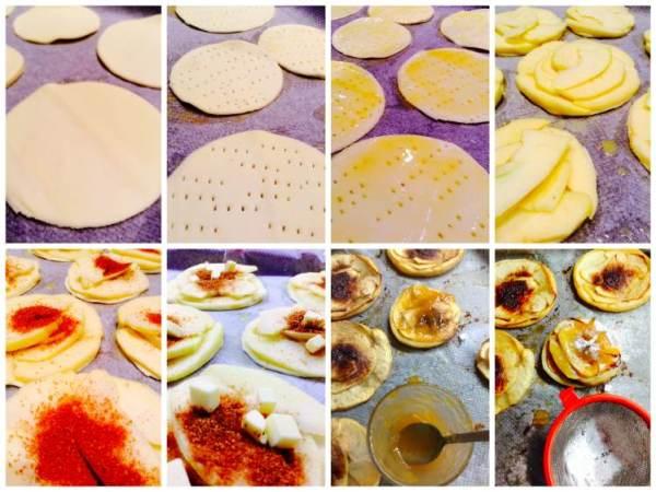 Tarta de manzana y hojaldre. Ingredientes