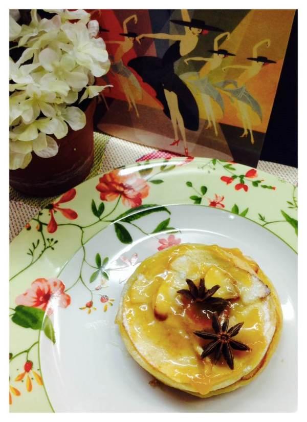 Tarta de manzana y hojaldre