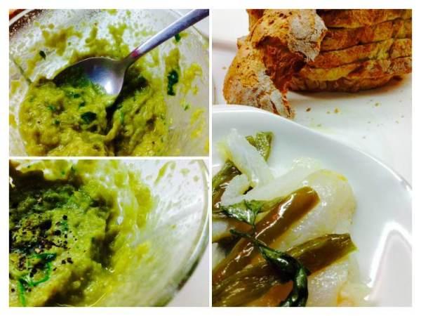 Tosta de bacala con crema de pimiento verde_Fotor