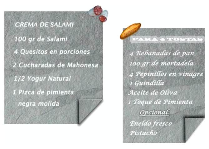 tosta de crema de salami con mortadela_Fotor