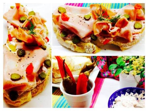Tosta de crema de salami y morrtadela Collage_Fotor