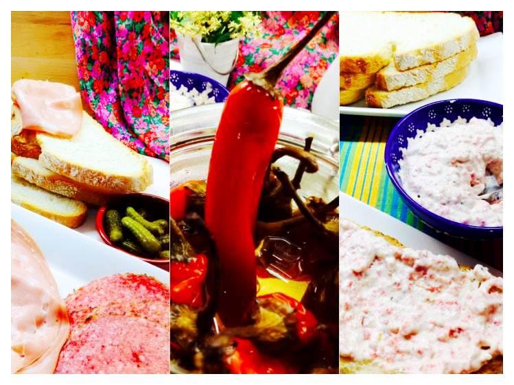 Tosta de crema de salami y mortadela ingredientes_Fotor