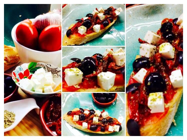 Tosta de queso feta y tomates_Fotor